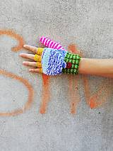 Rukavice - Otváracie pestré rukavice - 9987290_