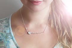 Náhrdelníky - Strieborný náhrdelník s kremeňom - Bokeh Quartz - 9985381_