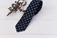 - Modrotlačová kravata slim (III.) - 9985163_