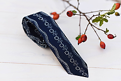 - Modrotlačová kravata slim (IV.) - 9985166_