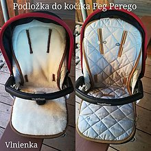 Textil - Podložka do kočíka PEG PEREGO 100% Merino ELEGANT - 9987654_