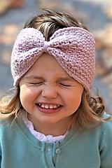 Detské čiapky - ...čelenka 100% MERINO vlna POWDER PINK - 9987088_