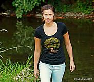 Tričká - Dámske tričko, maľované STROM ♀ - 9985989_