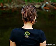 Tričká - Dámske tričko, maľované STROM ♀ - 9985998_