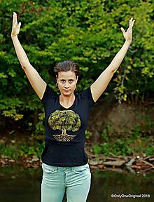 Tričká - Dámske tričko, maľované STROM ♀ - 9985990_