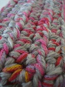 Ozdoby do vlasov - Čelenka -  sivá s ružovou - 9985234_