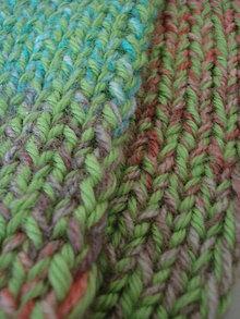 Čiapky - Čelenka - melírovo zeleno-rúžová - 9985265_