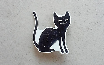 Odznaky/Brošne - Mačacina čierna - 9988859_