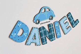 Tabuľky - DANIEL maľované meno z dreva - 9987958_