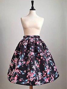 Sukne - slávnostná sukňa Farebné kvety - 9988561_