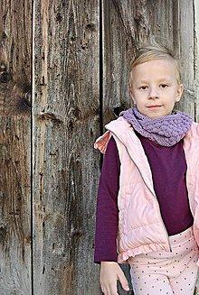 Detské doplnky - Detský pletený šál - BUBLINKY - 9986265_