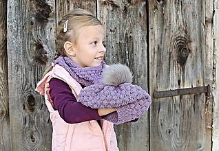 Detské čiapky - Pletená detská čiapka - BUBLINKY - 9986305_