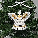 Dekorácie - Vianočná ozdoba alebo dekorácia anjelik rôzne - 9984970_
