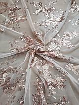 Textil - Vyšívaný tyl s flitrami - 9986276_