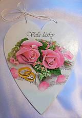 Dekorácie - Darčekové srdce k výročiu svadby - 9987267_