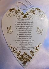 Dekorácie - Darčekové srdce Manželské desatoro - 9987298_