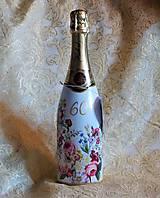 Nádoby - Fľaša k jubileu pre dámu Hubert k 60-ke - 9987877_