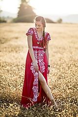 Šaty - červené šaty Slavianka - 9986347_
