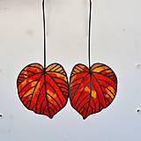 Náušnice - Náušnice podzimné lipové listy - 9988701_