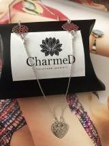 Náhrdelníky - Strieborný náhrdelník Triple Charm / Triple Charm Necklace - 9986103_