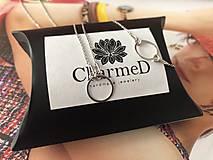 Náramky - Strieborný náramok s príveskom Ring / Ring bracelet - 9986165_