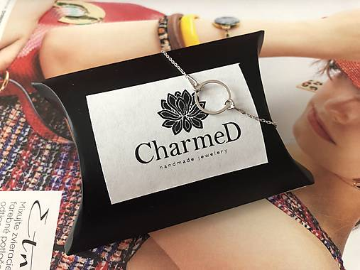 Strieborný náramok s príveskom Ring / Ring bracelet