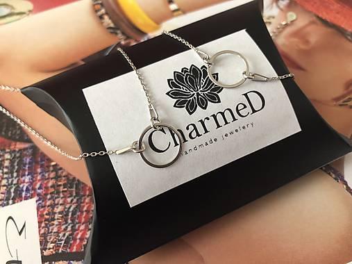 Strieborný náhrdelník s príveskom Ring / Ring Necklace