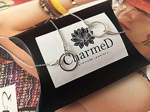 Náhrdelníky - Strieborný náhrdelník s príveskom Ring / Ring Necklace - 9986255_