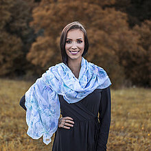 Šály - Dámsky letný šál/pléd - Heaven+brošňa - 9985061_