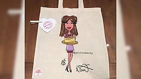 Iné tašky - ♥ Plátená, ručne maľovaná taška ♥ - 9986685_