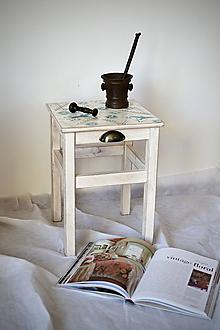 Nábytok - Stolička BIRDS OLD WHITE - 9987926_