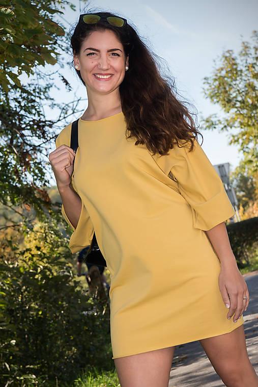 Šaty Naty - žltá (S)   miracles.style - SAShE.sk - Handmade Šaty a2d738b2373