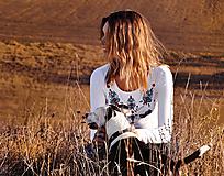 Tričká - Tričko Ornament s dlhým rukávom - 9986808_