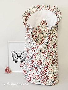 Textil - zavinovačka pre bábätko (Červená) - 9986291_