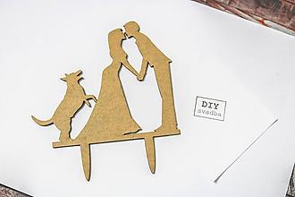 Iný materiál - Zápich na svadobnú tortu- Ty&Ja a pes - 9987772_