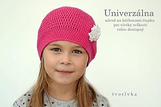 Návody a literatúra - Univerzálna čiapka ~ návod zdarma - 9985083_