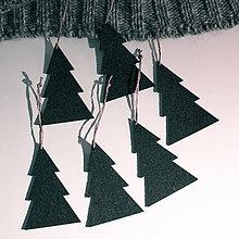 Dekorácie - Vianočná ozdoba - severský stromček, set 6ks - 9988306_