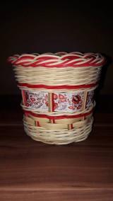 Košíky - Pletený košík z pedigu - 9988996_