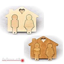 Nábytok - Držiak na kľúče s kľúčenkami - 9985427_