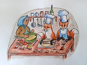 Kresby - líšky kuchárky... :-) - 9986650_