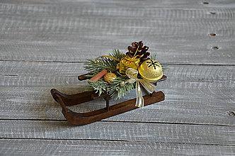 Dekorácie - vianočné sánky