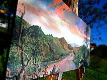 Obrazy - Obraz - Súmrak v divočine / maľba akrylom / - 9988891_