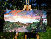 Obrazy - Obraz - Súmrak v divočine / maľba akrylom / - 9988892_