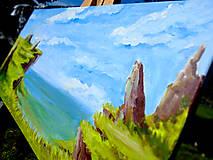 Obrazy - Obraz - Zabudnutý útes / maľba akrylom / - 9988953_