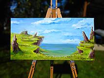 Obrazy - Obraz - Zabudnutý útes / maľba akrylom / - 9988956_