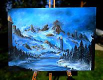 Obrazy - Obraz - Chladné údolie / maľba akrylom / - 9989009_