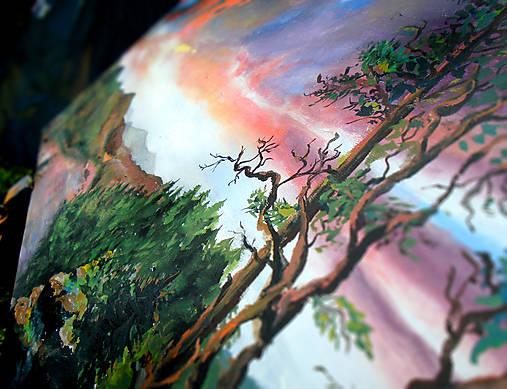 Obraz - Súmrak v divočine / maľba akrylom /