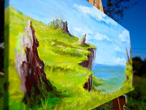 Obraz - Zabudnutý útes / maľba akrylom /