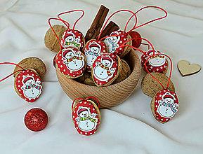 Dekorácie - Vianočné orechy  so snehuliakmi - 9988152_