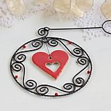 Dekorácie - vianočná dekorácia so srdiečkom - 9989157_